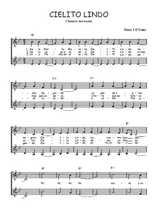 Téléchargez l'arrangement de la partition de mexique-cielito-lindo en PDF à deux voix