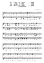 Téléchargez l'arrangement de la partition de Clement-Janequin-Il-estoit-une-fillette en PDF à deux voix