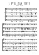 Téléchargez l'arrangement de la partition de Clement-Janequin-Il-estoit-une-fillette en PDF à quatre voix