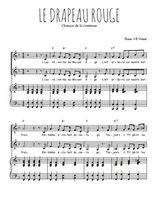 Téléchargez la partition de Le drapeau rouge en PDF pour 2 voix égales et piano