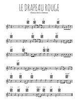 Téléchargez la partition en Sib de la musique commune-le-drapeau-rouge en PDF