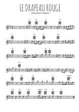 Téléchargez la partition pour saxophone en Mib de la musique commune-le-drapeau-rouge en PDF