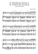 Téléchargez la partition de Le drapeau rouge en PDF pour Chant et piano