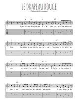 Téléchargez la tablature de la musique commune-le-drapeau-rouge en PDF