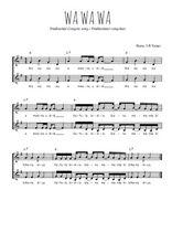 Téléchargez l'arrangement de la partition de Traditionnel-Wa-wa-wa en PDF à deux voix