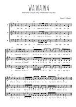 Téléchargez l'arrangement de la partition de Traditionnel-Wa-wa-wa en PDF à trois voix