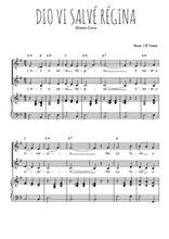 Téléchargez la partition de Dio vi salvé Régina en PDF pour 2 voix égales et piano