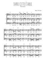 Téléchargez l'arrangement de la partition de Traditionnel-Dans-cette-etable en PDF à trois voix