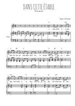 Téléchargez la partition de Dans cette étable en PDF pour Chant et piano