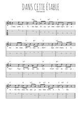 Téléchargez la tablature de la musique Traditionnel-Dans-cette-etable en PDF