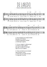 Téléchargez l'arrangement de la partition de Traditionnel-De-Laredo en PDF à deux voix
