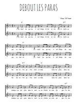 Téléchargez l'arrangement de la partition de traditionnel-debout-les-paras en PDF à deux voix