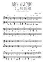 Téléchargez l'arrangement de la partition de Traditionnel-Dechem-droumi-Laisse-moi-dormir en PDF à deux voix