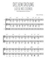 Téléchargez l'arrangement de la partition de Traditionnel-Dechem-droumi-Laisse-moi-dormir en PDF à trois voix