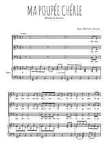 Téléchargez la partition de Ma poupée chérie en PDF pour 3 voix SAB et piano