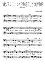 Téléchargez l'arrangement de la partition de Traditionnel-Desirs-de-la-venue-du-Sauveur en PDF à deux voix