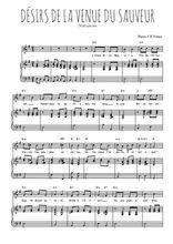 Téléchargez la partition de Désirs de la venue du Sauveur en PDF pour Chant et piano