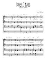 Téléchargez la partition de Dobrú noc en PDF pour 2 voix égales et piano