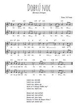 Téléchargez l'arrangement de la partition de Traditionnel-Dobru-noc en PDF à deux voix