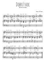 Téléchargez la partition de Dobrú noc en PDF pour Chant et piano