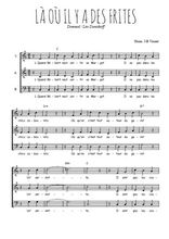 Téléchargez l'arrangement de la partition de leo-daniderff-la-ou-il-y-a-des-frites en PDF à trois voix