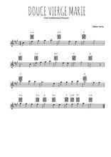 Téléchargez la partition pour saxophone en Mib de la musique noel-douce-vierge-marie en PDF