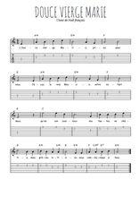 Téléchargez la tablature de la musique noel-douce-vierge-marie en PDF