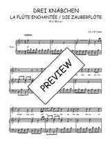 Téléchargez la partition de Drei Knäbchen, quintet de La flûte enchantée en PDF pour Chant et piano