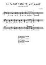 Téléchargez l'arrangement de la partition de Traditionnel-Du-fagot-jaillit-la-flamme en PDF à deux voix