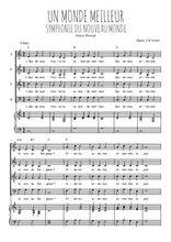 Téléchargez la partition de Un monde meilleur en PDF pour 4 voix SATB et piano