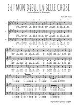 Téléchargez l'arrangement de la partition de Traditionnel-Eh-!-mon-Dieu-la-belle-chose en PDF à trois voix