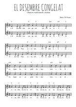 Téléchargez l'arrangement de la partition de Traditionnel-El-desembre-congelat en PDF à deux voix