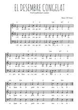 Téléchargez l'arrangement de la partition de Traditionnel-El-desembre-congelat en PDF à trois voix