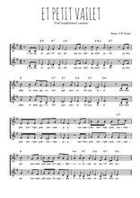 Téléchargez l'arrangement de la partition de Traditionnel-El-petit-vailet en PDF à deux voix