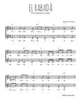 Téléchargez l'arrangement de la partition de Traditionnel-El-rabada en PDF à deux voix