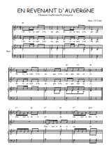 Téléchargez la partition de En revenant d'Auvergne en PDF pour 2 voix égales et piano