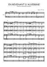 Téléchargez la partition de En revenant d'Auvergne en PDF pour 3 voix SAB et piano