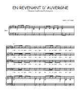 Téléchargez la partition de En revenant d'Auvergne en PDF pour 4 voix SATB et piano