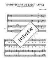 Téléchargez la partition de En revenant de Saint-Denis en PDF pour 2 voix égales et piano