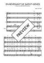 Téléchargez la partition de En revenant de Saint-Denis en PDF pour 3 voix SAB et piano