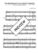 Téléchargez la partition de En revenant de Saint-Denis en PDF pour Chant et piano
