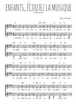 Téléchargez l'arrangement de la partition de Traditionnel-Enfants-ecoutez-la-musique en PDF à deux voix