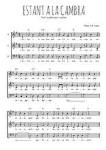 Téléchargez l'arrangement de la partition de Traditionnel-Estant-a-la-cambra en PDF à trois voix