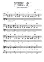 Téléchargez l'arrangement de la partition de Traditionnel-Evening-rise en PDF à deux voix