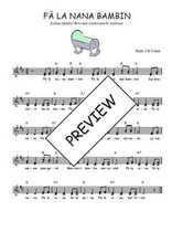 Téléchargez l'arrangement de la partition de Traditionnel-Fa-la-nana-bambin en PDF à deux voix