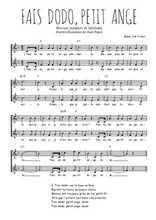Téléchargez l'arrangement de la partition de Traditionnel-Fais-dodo-petit-ange en PDF à deux voix