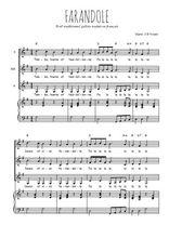 Téléchargez la partition de Farandole en PDF pour 3 voix SSA et piano
