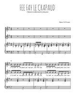 Téléchargez la partition de Fee Fay le crapaud en PDF pour 2 voix égales et piano