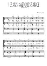 Téléchargez la partition de Fesans raijouissance en PDF pour 2 voix égales et piano