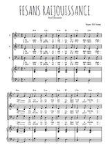 Téléchargez la partition de Fesans raijouissance en PDF pour 3 voix SAB et piano